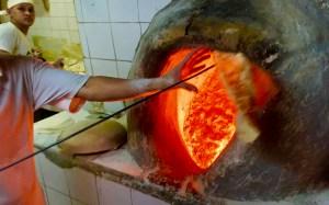 Bread making in Manama