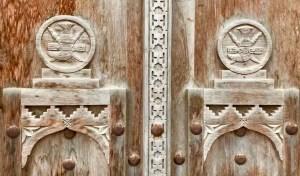 Taqah Castle - door