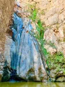 Green Waterfall - Wadi Mangal