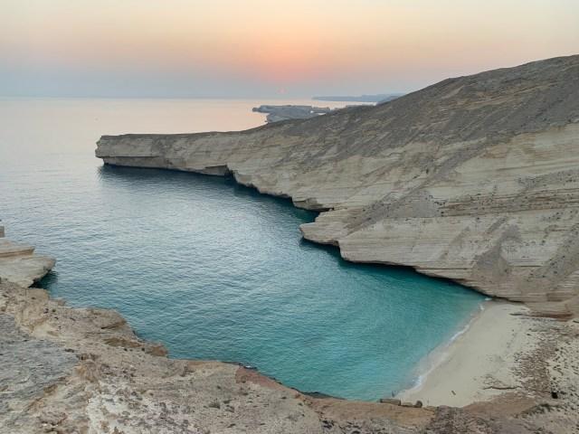 Hidden beach next to Qantab