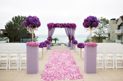 At Gourmet Celebrations, we prefer the use of radiant orchid as an accent color used against neutral or white.