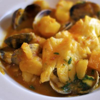 Spanish Fish Stew with Clams