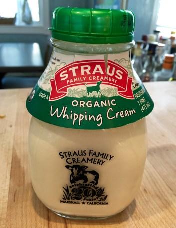 organic whipping cream