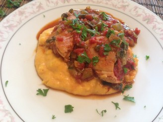 Peppered Chicken with Saffron Polenta (1)