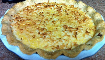 Cocunut Custard Pie cropped
