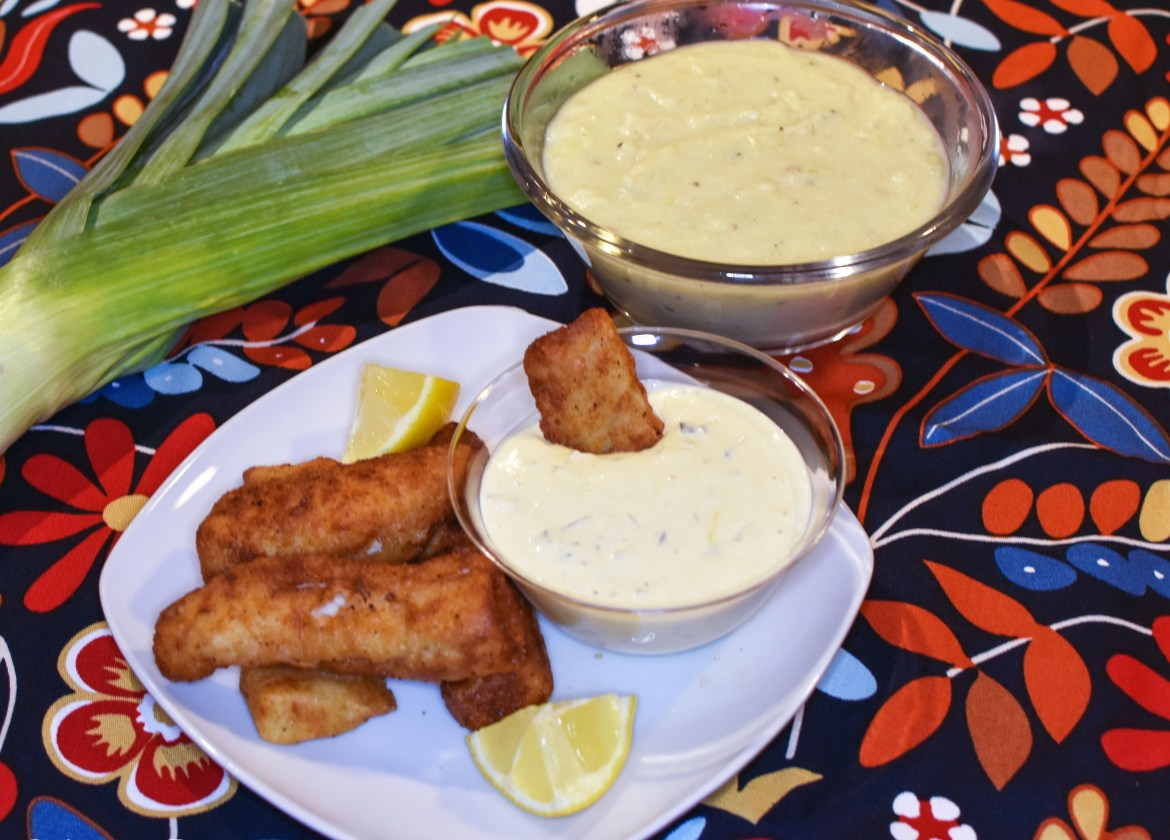 Potato & Leek Soup with Cod Goujons