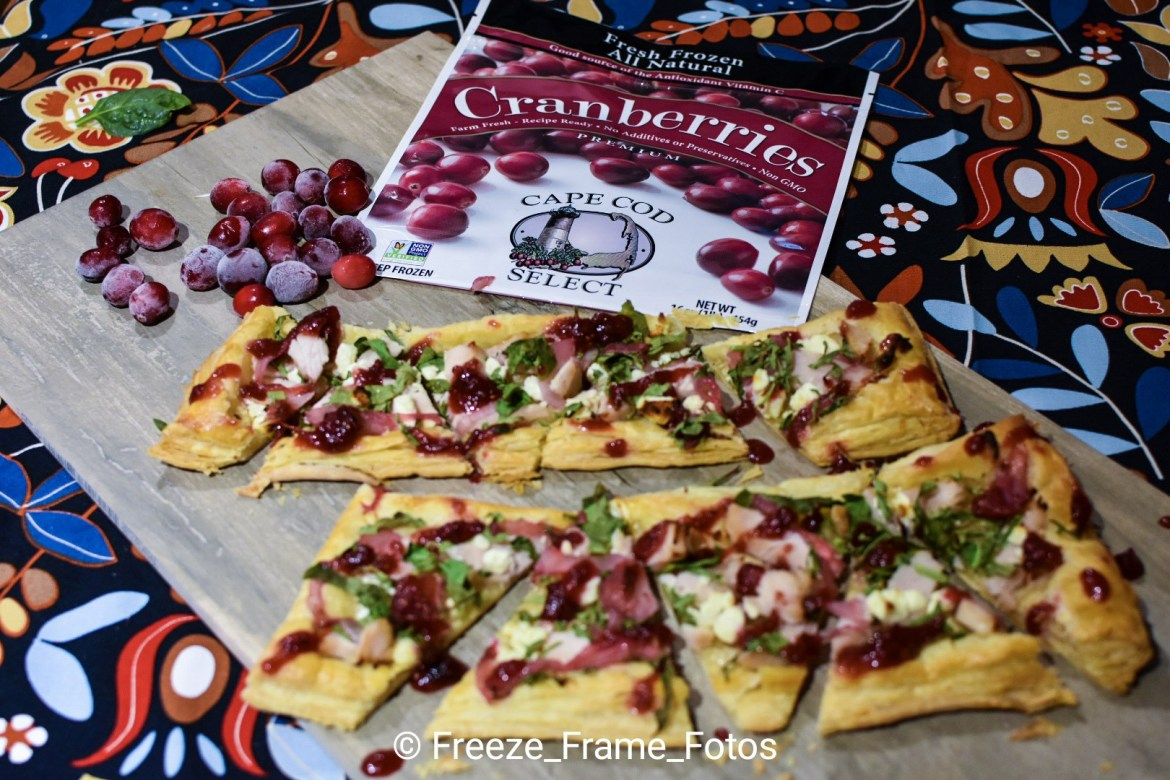 Cranberry-Balsamic Turkey Flatbread Bites #CapeCodSelect
