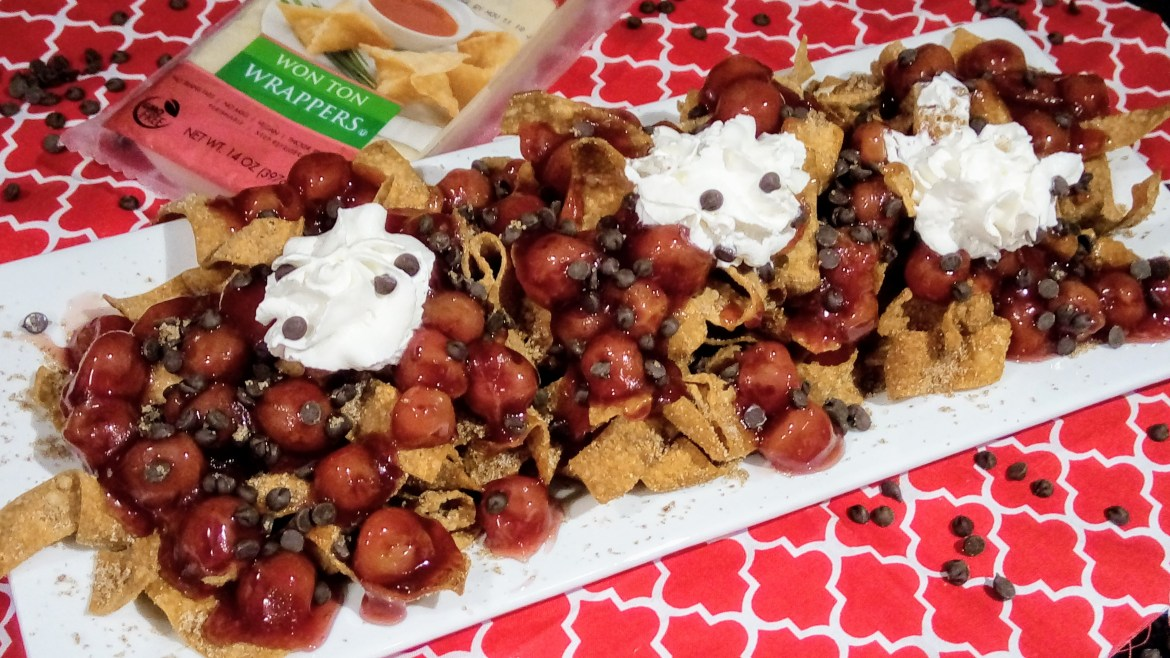 Cherry-Chocolate Dessert Nachos