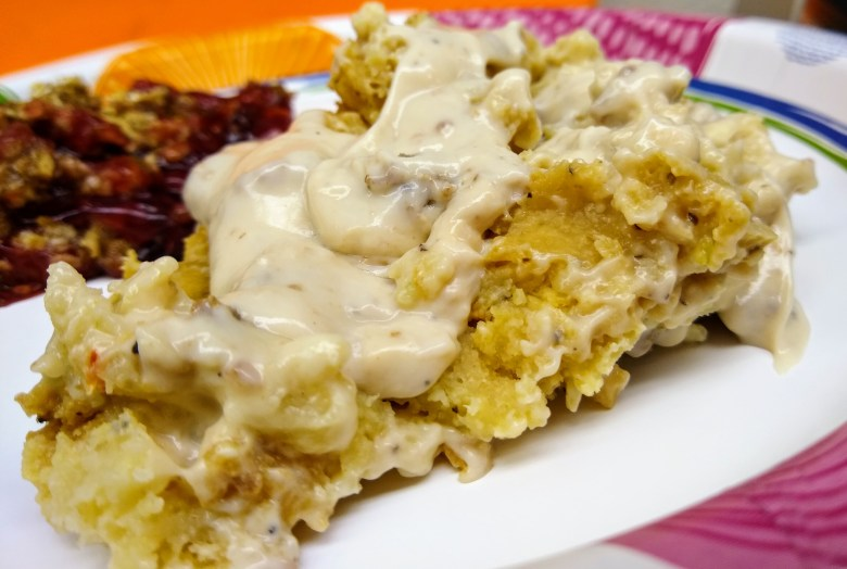 Sausage Gravy Crock Pot Breakfast Casserole