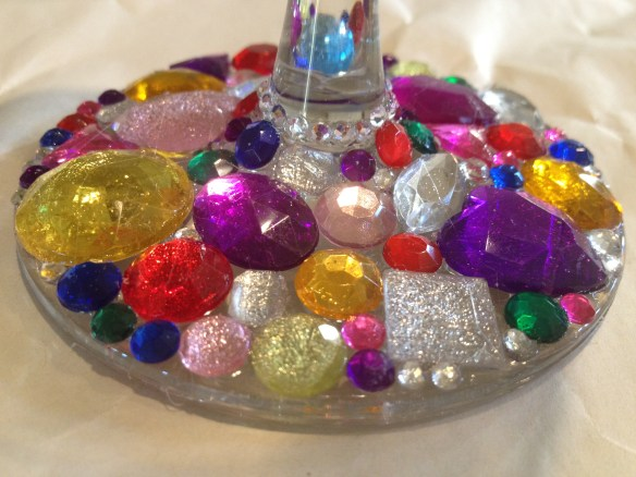 DIY Bedazzled Wine Glass