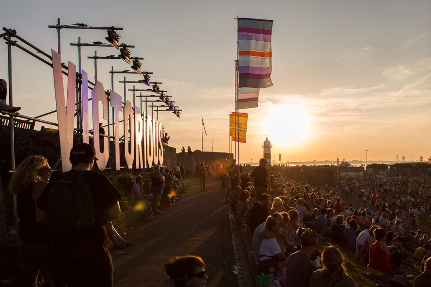 Sunset at Victorious festival by the stage