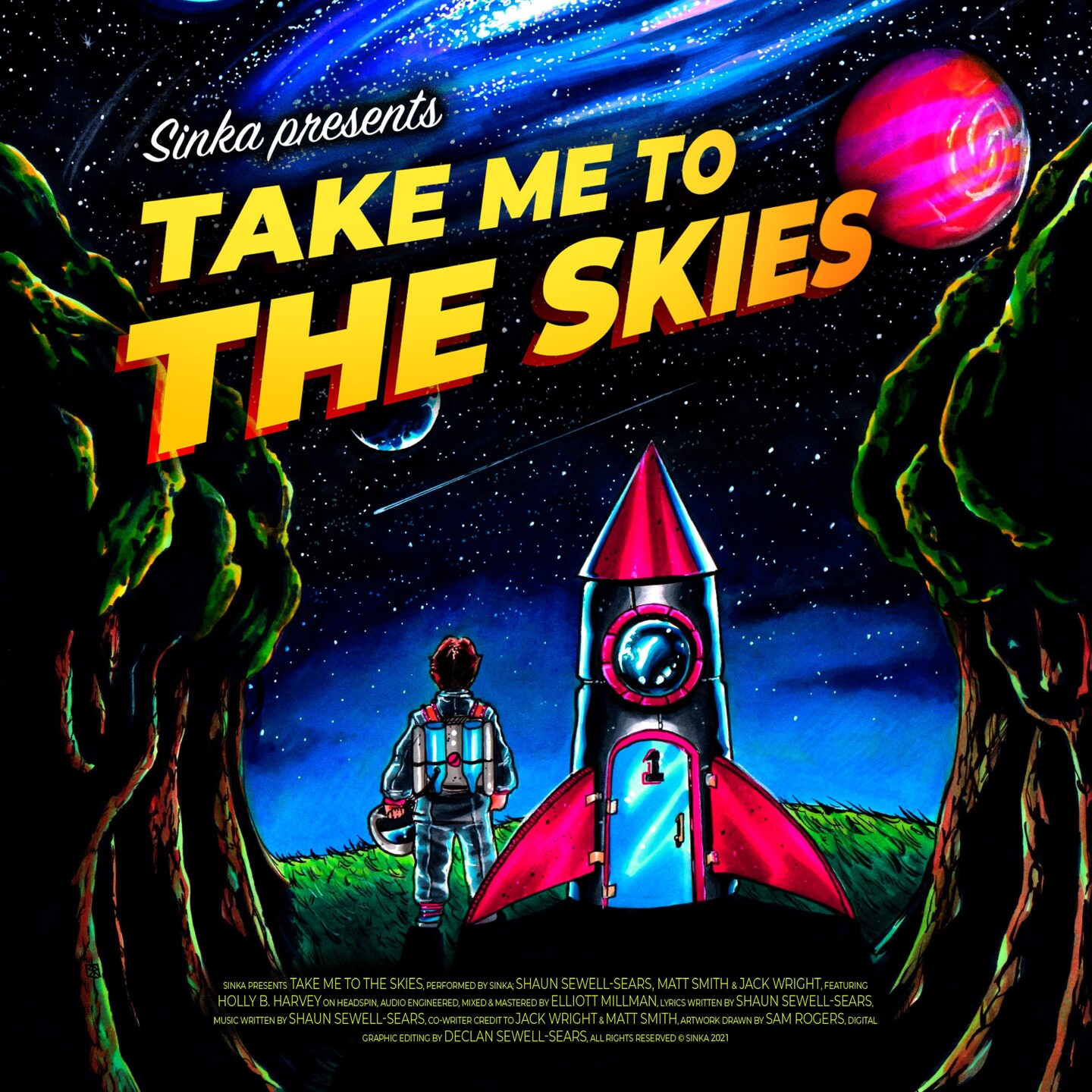 Sinka band artwork for Take me to the Skies