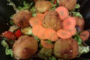 Receta de bolas de arroz con carne picada gourmet italiana.