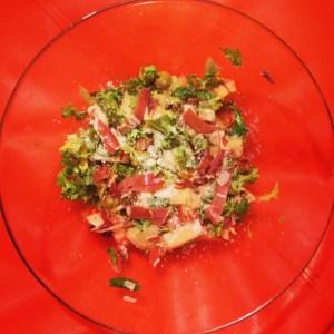 Ensalada de melón con jamón paso a paso