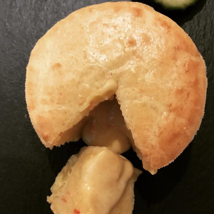 como preparar fondant salado de queso con almogrote canario