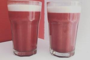 receta pink beetroot latte café con remolacha