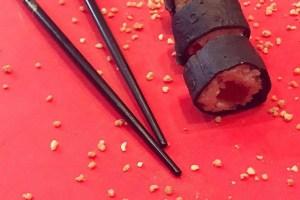 receta trampantojo de sushi dulce
