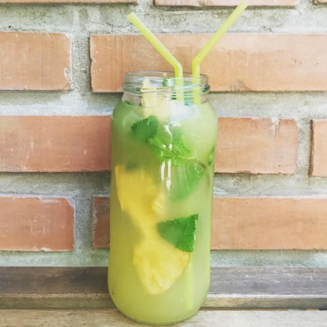ice tea con te verde y piña receta