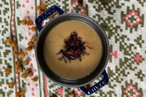 receta crema garbanzos cebolla caramelizada