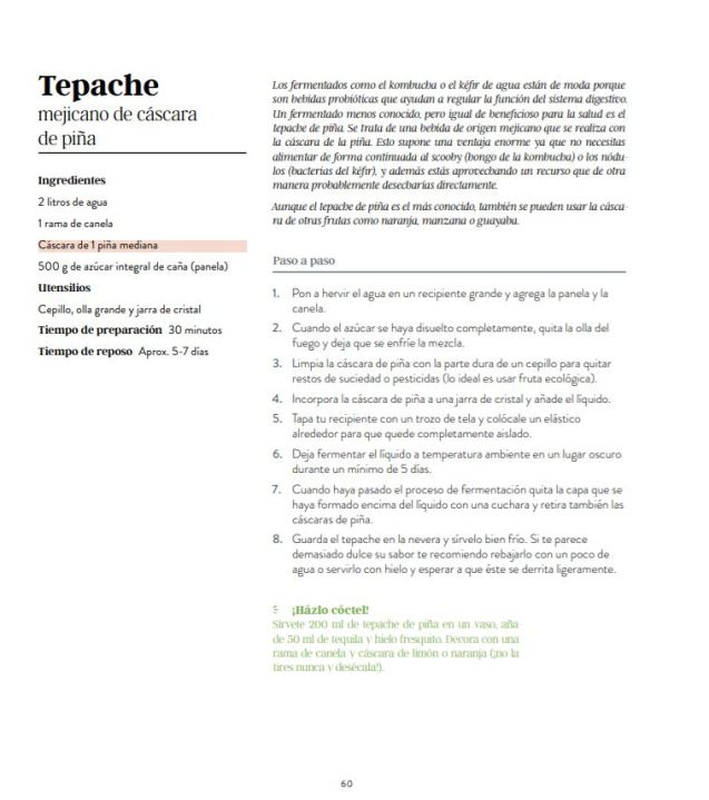 receta zero waste tepache