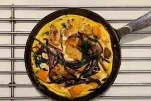 receta frittata tallos y hojas de remolacha