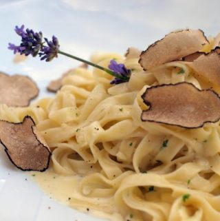 Pasta with Shaved Black Truffles