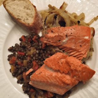 Salmon and Lentils Recipe