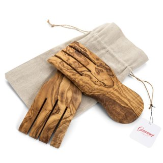 Olive Wood Salad Hands