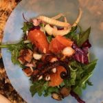 Smoked octopus citrus salad