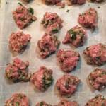 Vietnamese Pork Meatballs Resting
