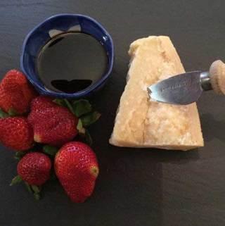 balsamic vinegar and parmesan