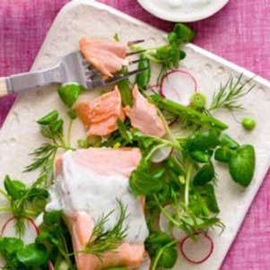 healthy poached salmon recipe