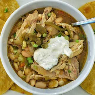 bowl of green chili
