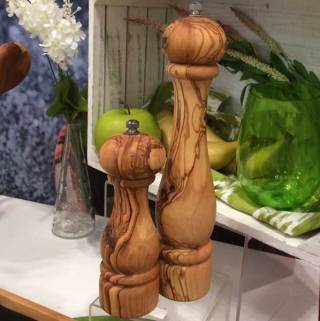 olive wood pepper mill in two sizes