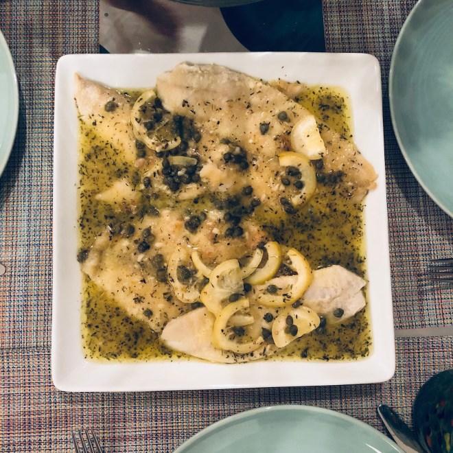 Sole Filet in Lemon-Caper Sauce