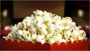 pipoca no cinema