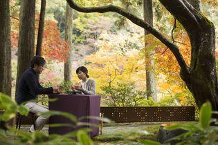 星のや京都(京都府・嵐山) 京都の庭師と庭の秋を見つけ、宇治・朝日焼の器に秋を描く 「脱デジタル滞在・秋〜職人と秋を探して~」開催 期間:2018年9月1日~11月30日