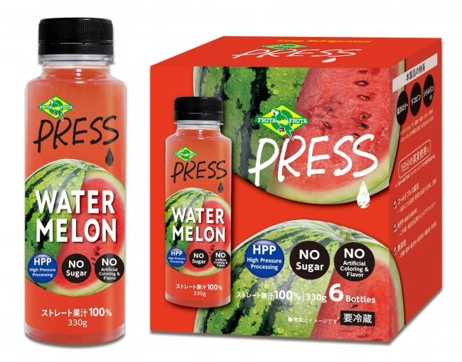 BBQのお供にも!コストコ専売スイカのストレートジュース『PRESS WATER MELON』発売開始