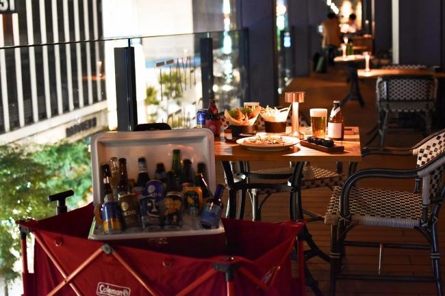 心地よい風に包まれて、銀座の夏をクラフトビール飲み放題で満喫 約40mのテラスにクラフトビール A.Y.C.D.が登場! 6.19から 『NAMIKI Beer Terrace』開催