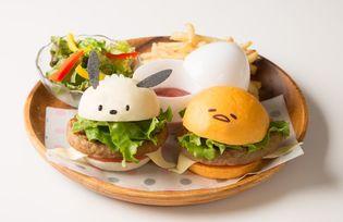 <初コラボ>ポチャッコ×ぐでたまが仲良くハンバーガーに変身! 8月1日~9月30日の期間限定・4種のメニューを提供@梅田