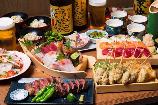 京都の食に「肉天ぷら」という新提案!天ぷらPUB「勝天-KYOTO GATTEN-」より新コースメニュー&新ランチ登場!