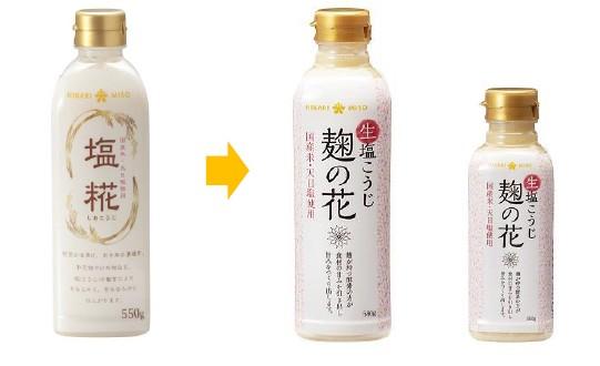 プロテアーゼ活性の向上と塩分20%カットを実現!ひかり味噌の『塩糀』が『生塩こうじ 麹の花』にリニューアル