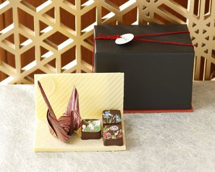 ホテル雅叙園東京でしか手に入らない 全部食べられる和アート新作ショコラ「折り鶴チョコ」 9月1日(土)より販売開始