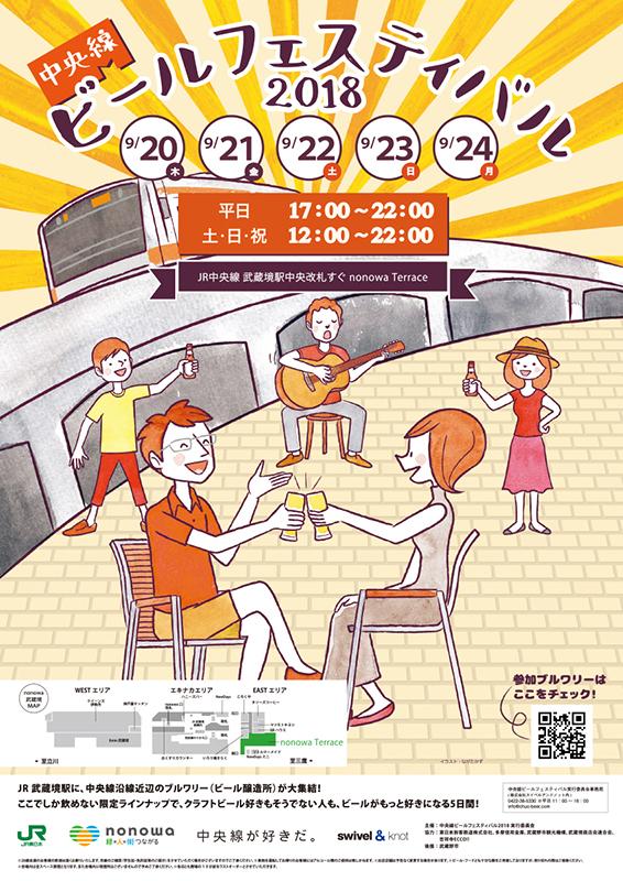 中央線沿線近辺のブルワリーが大集合!『中央線ビールフェスティバル2018』開催。地元のクラフトビールが楽しめる5日間!