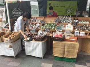 有機野菜の「ビオ・マルシェの宅配」、 JR博多駅前広場で開催の 「博多FARMERS' MARKET」に出店