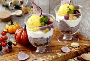 老化の原因物質「AGE」レスのハロウィン限定スイーツ 「ノニ酵素ムース入りかぼちゃのミニパルフェ」10月1日発売