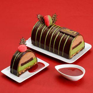 リンツ、2018年クリスマスケーキ「ショコラ 抹茶」 11月1日にホールケーキの予約、ピースケーキの販売がスタート オンラインショップ限定で冷凍配送のホールケーキも登場
