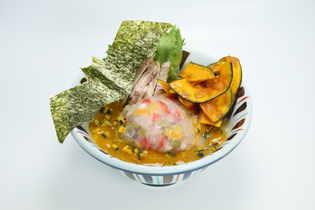 らーめん1杯でかぼちゃ1/3個分!?『かぼちゃのポタージュらー麺』を10月16日(火)より限定販売!