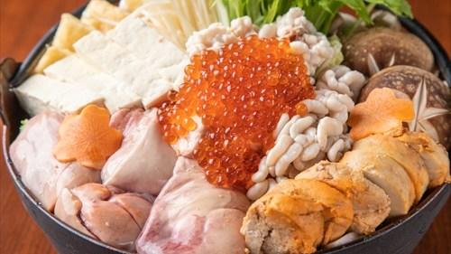"""お鍋の中は""""プリン体祭り""""の『痛風鍋』が続々登場!! 白子やあん肝、牡蠣、ウニやいくらなどプリン体が気になる、でも贅沢でおいしい背徳鍋"""