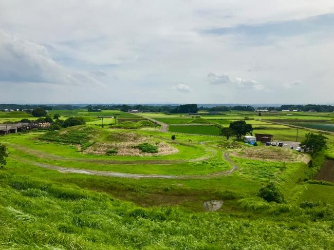日本遺産に認定された「新田原古墳群」。今後はその希少な景観を保全しながら、さまざまなアクティビティや研修のフィールドとして活用していく計画です。